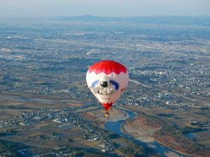 とちぎ熱気球インターナショナルチャンピオンシップ 宇都宮市鬼怒川上空1000ft