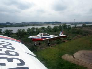 大利根飛行場 RWY07 編隊飛行離陸