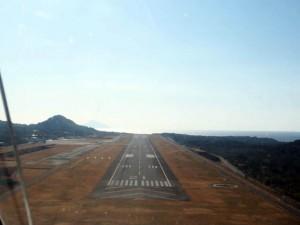 大島空港 RWY21 着陸